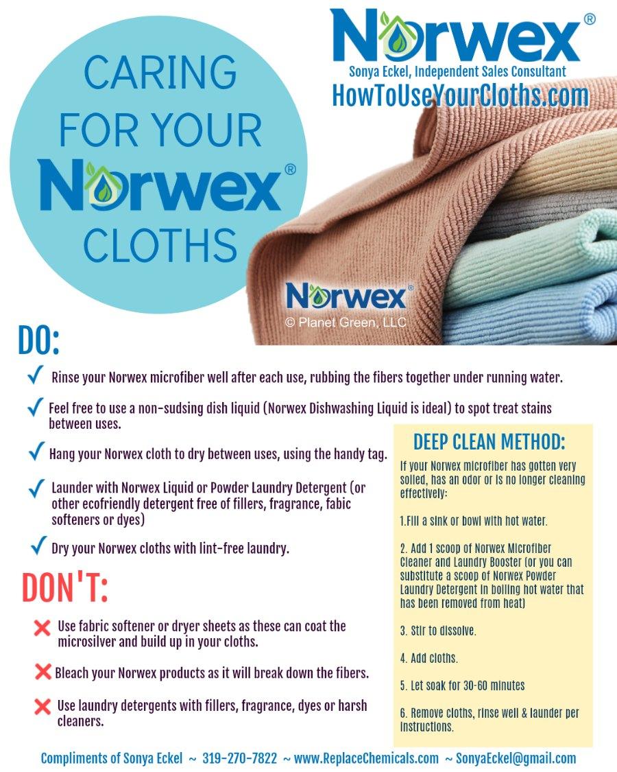 How do I wash Norwex?