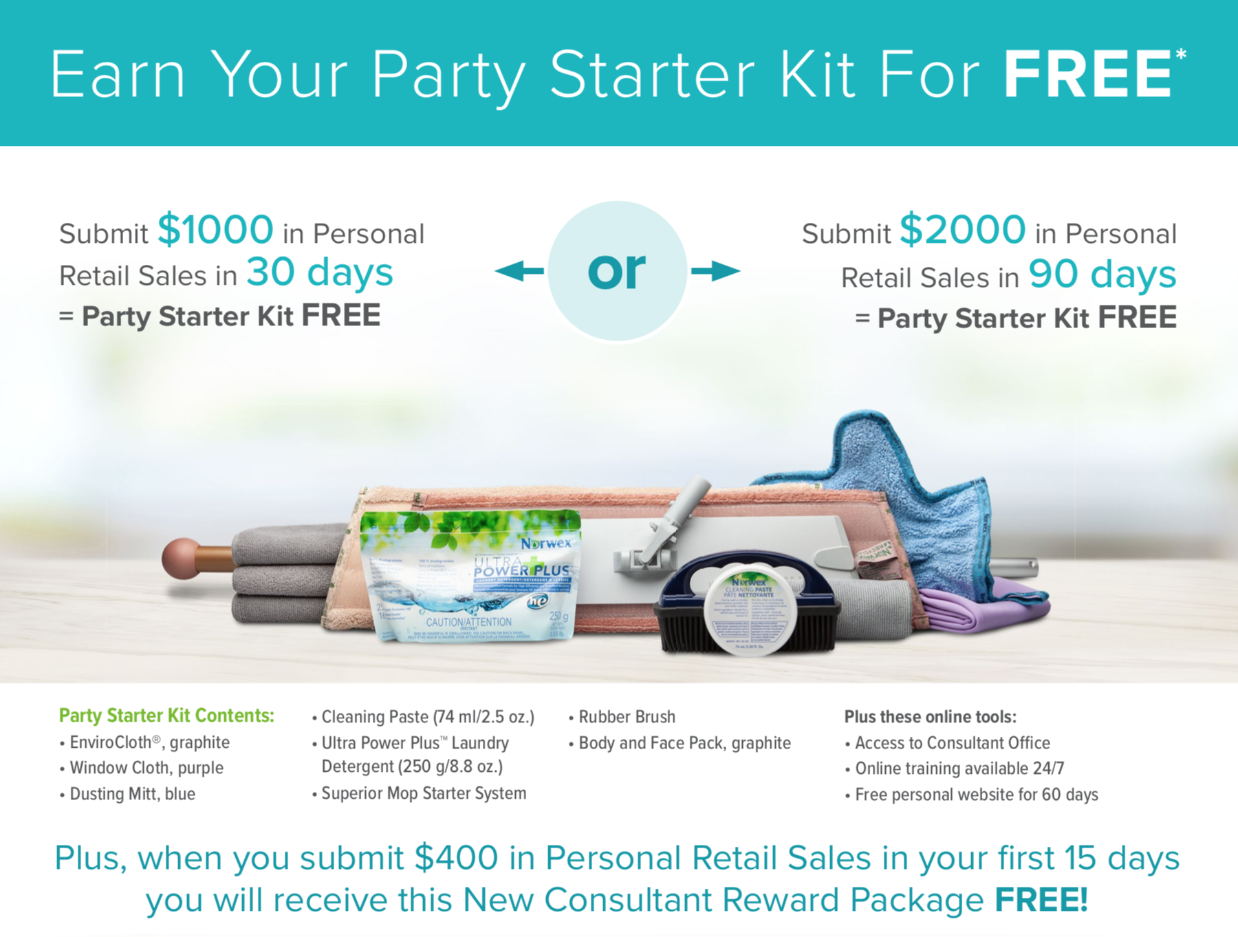 Norwex Consultant Kit 2 Ways to Earn FREE!