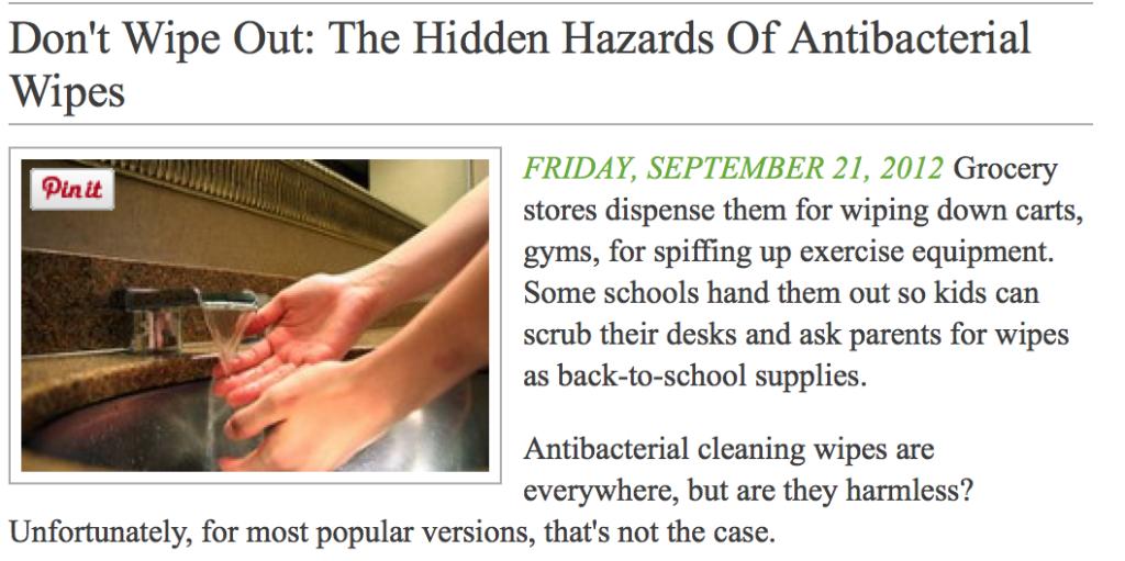 Hidden Hazards Antibacterial