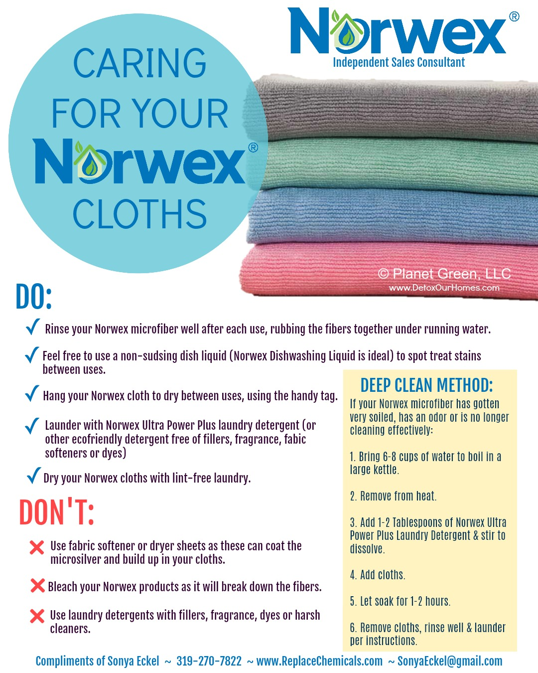 Norwex Washing Instructions