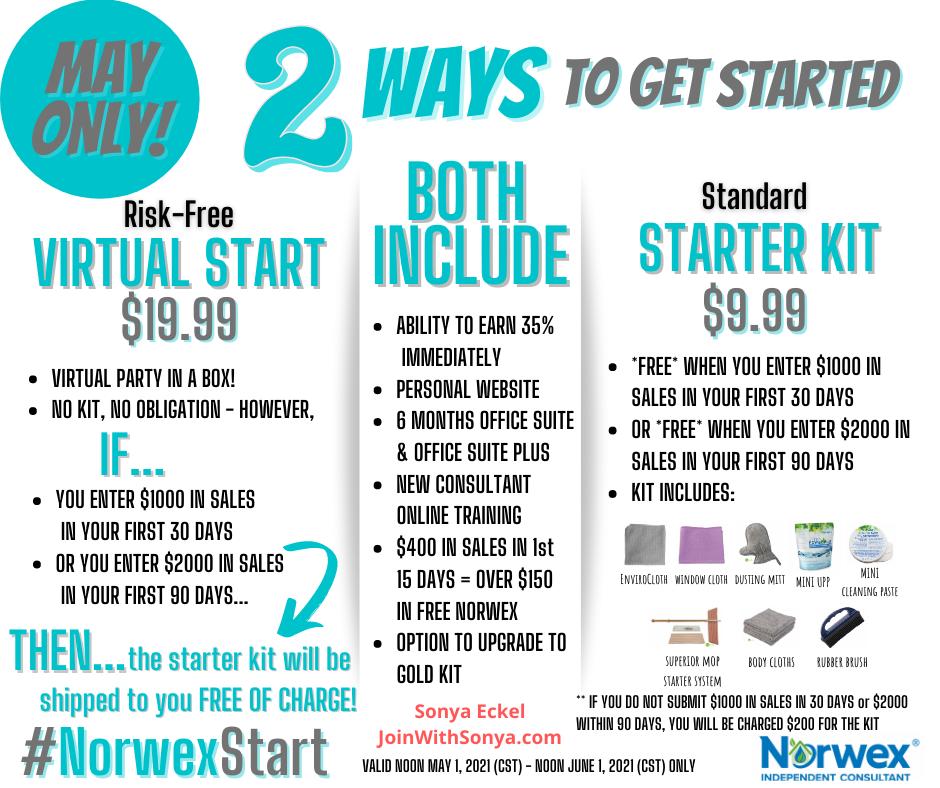 Norwex Virtual Kit vs. Standard Consultant Kit